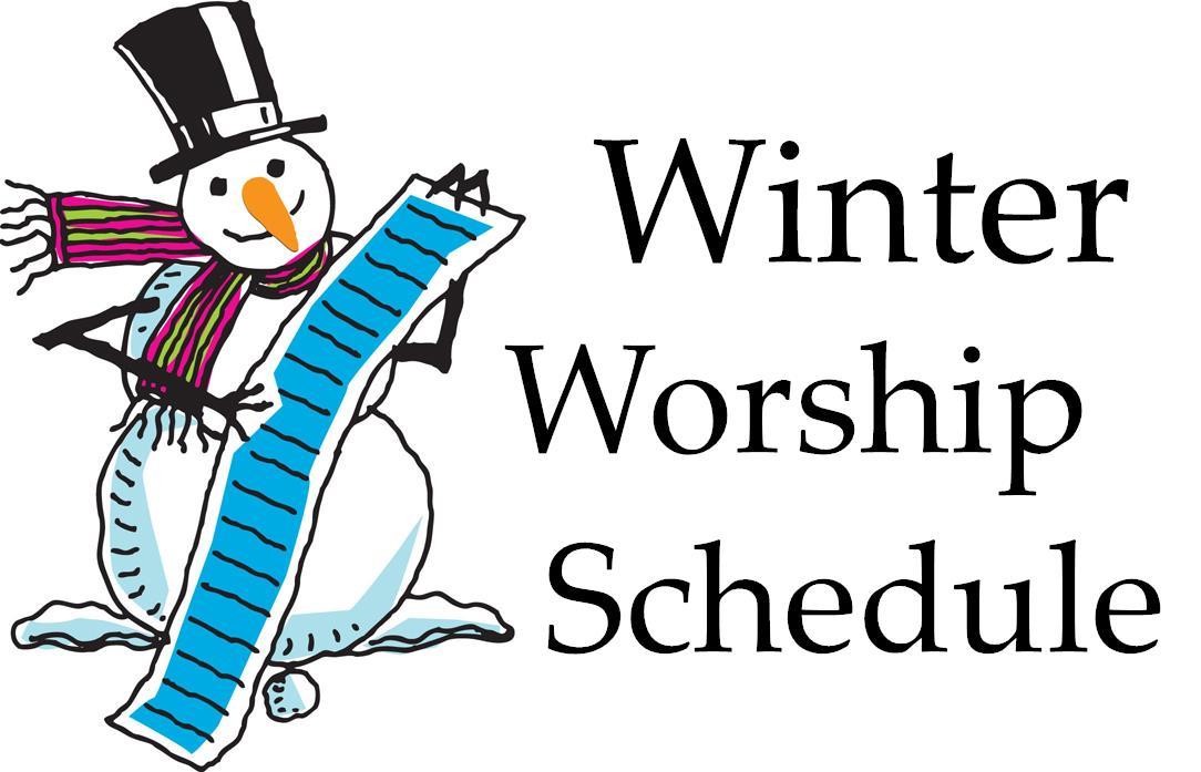 Winter Worship Schedule